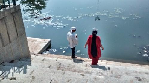 people dumping stuff in halasuru lake