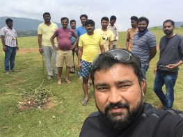 after cleaning a mountain with a random group, Chikkamagaluru