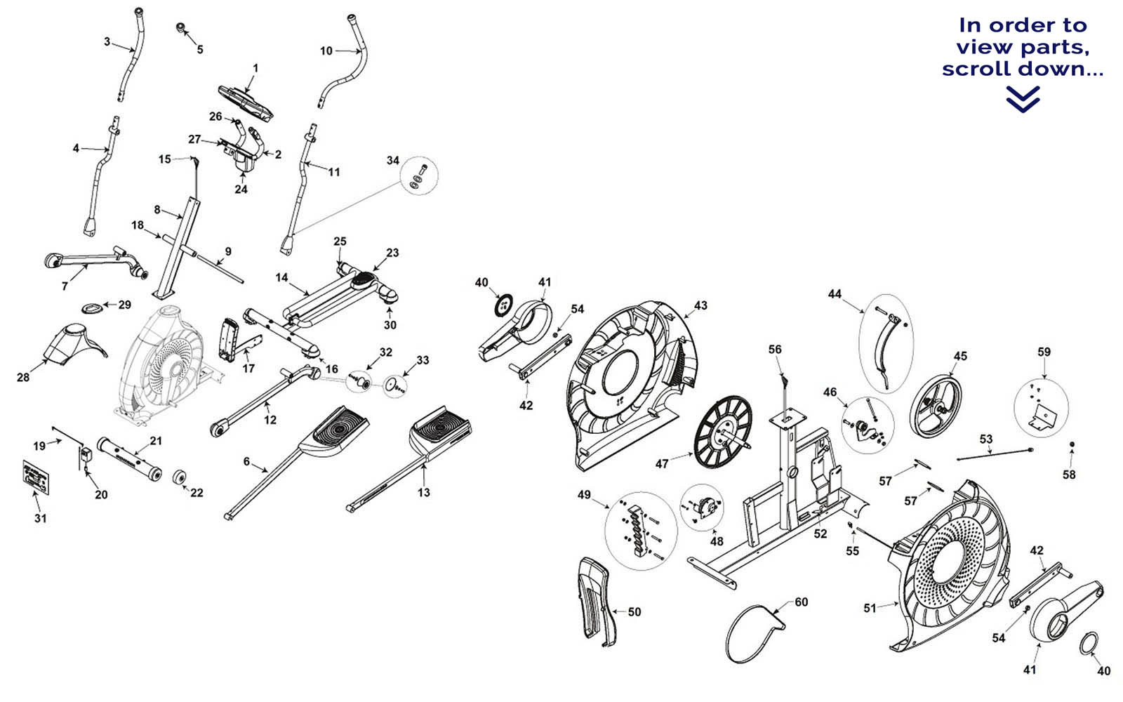 hight resolution of schwinn 430 elliptical parts