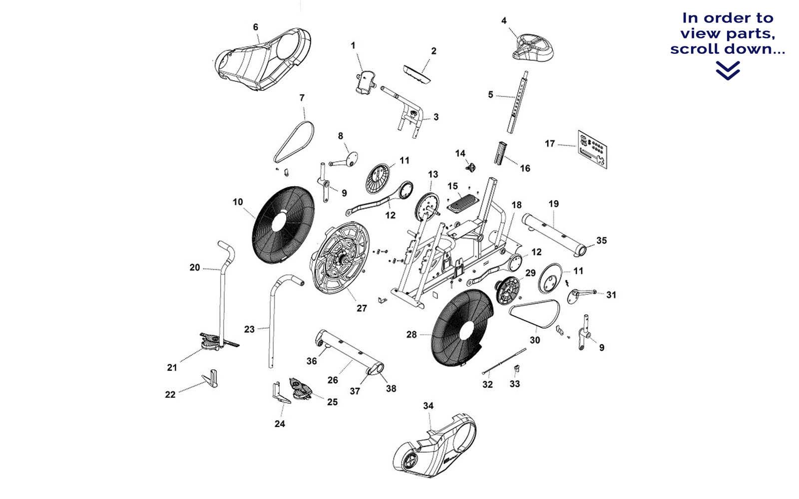 bike parts diagram porsche 964 radio wiring schwinn airdyne exercise manual best seller