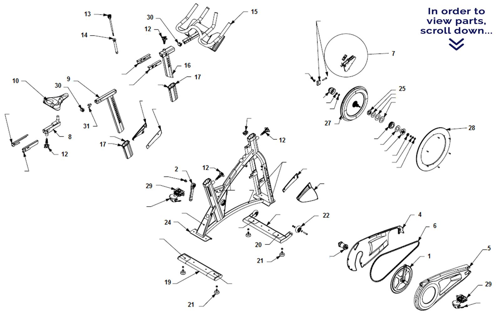Schwinn AC Performance--Scroll down to view parts