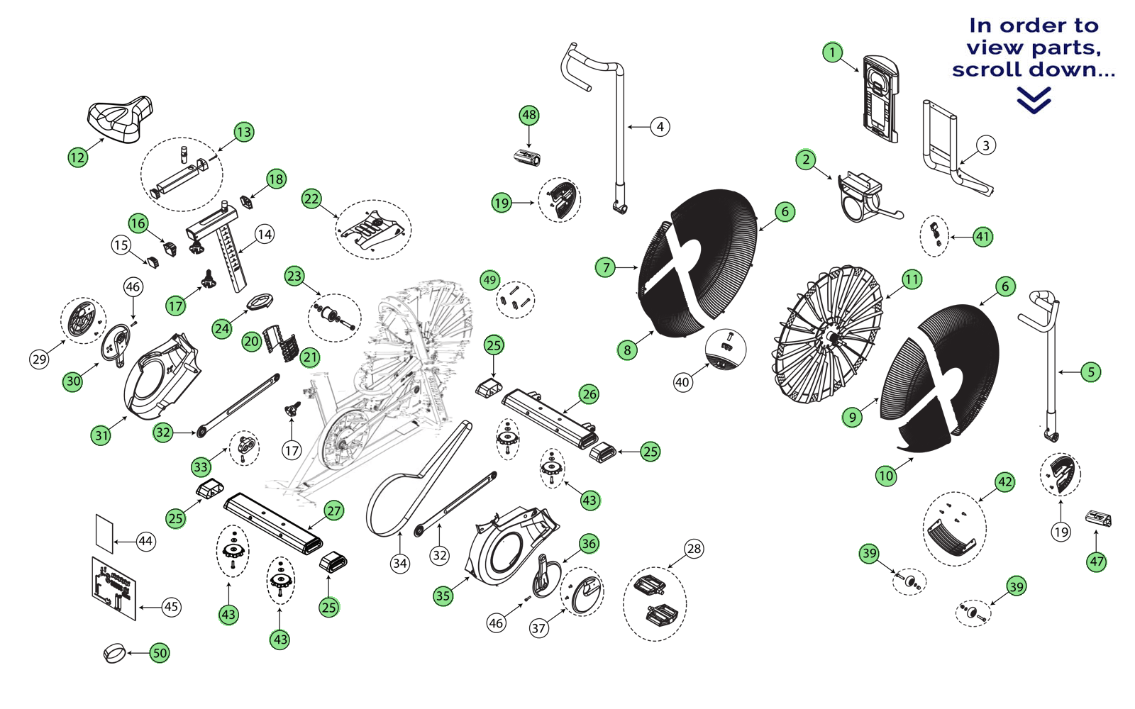 Schwinn Airdyne Exercise Bike Parts Manual