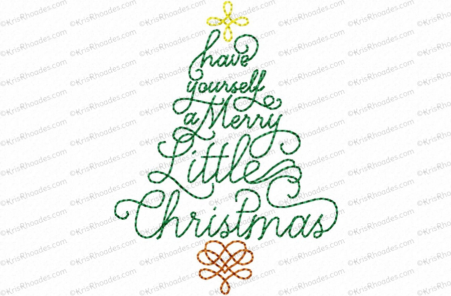 Merry Christmas Tree Toilet Paper Embroidery Design