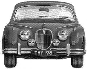 Jaguar Mk2 1959 blueprint