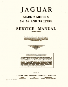 Jaguar Service Manual