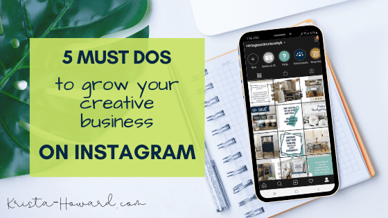 grow your creative business in Instagram
