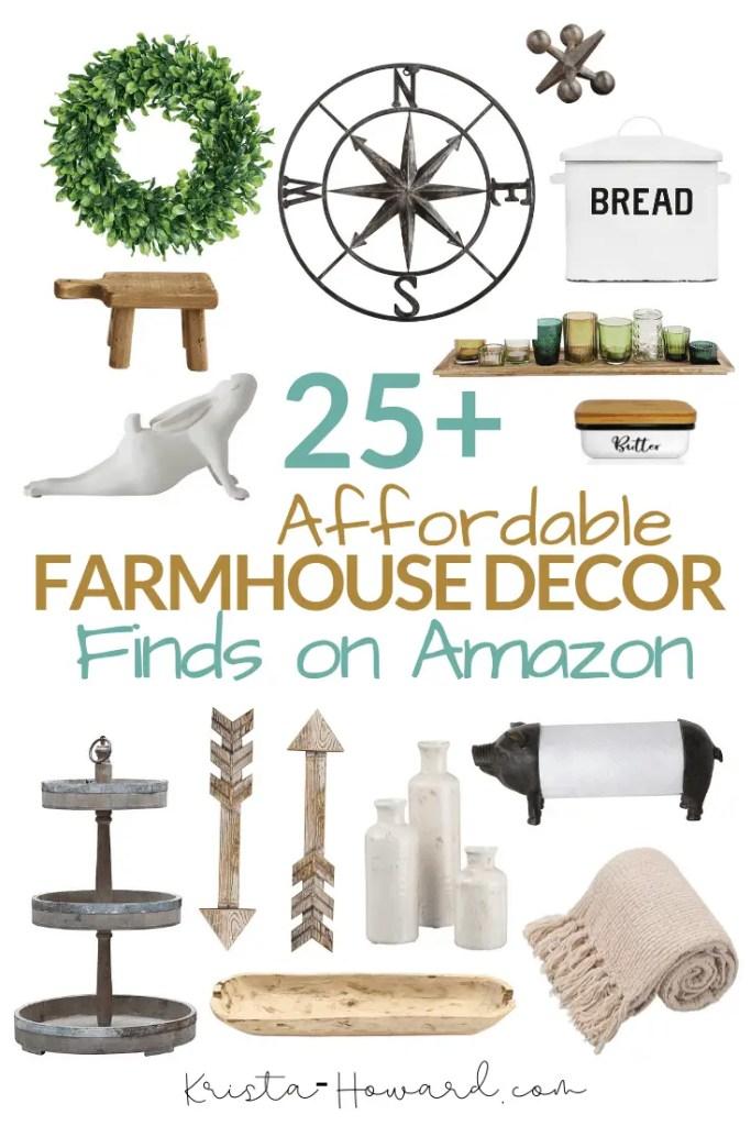 Affordable farmhouse home decor on Amazon