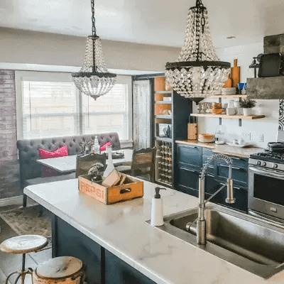 DIY Vintage Farmhouse Kitchen