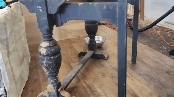 Black Vintage Table Base