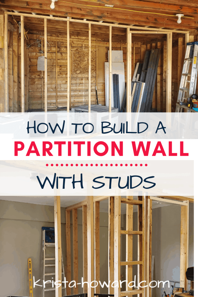 Garage Partition wall Using Studs