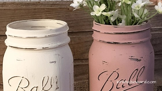 Painted Mason Jars with Chalky Paint