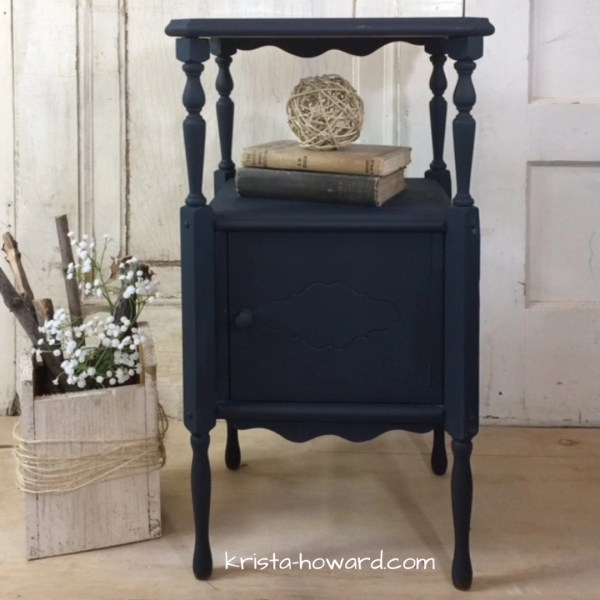 Small Navy Painted Side Table