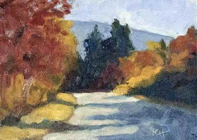 "Fall Road 5x7"" Oil by Krista Hasson"