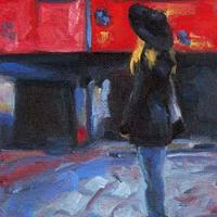 Kiana in Austria - small daily oil painting