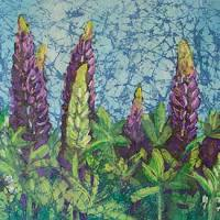 Wild Lupines painting by Krista Hasson