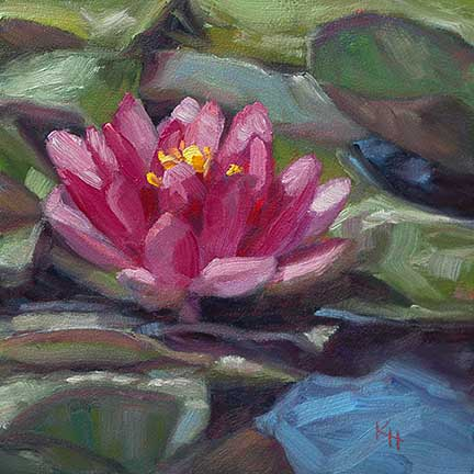 Water Lily – Day 7 of 30 in 30 days painting challenge
