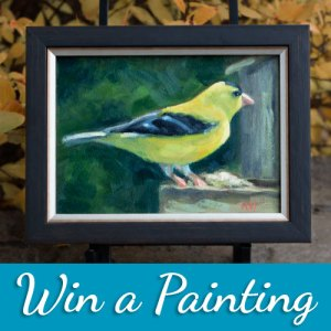 Win an oil painting goldfinch