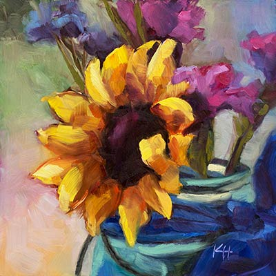 Impressionistic Oil Paintings with Glowing Color – Learning New Techniques