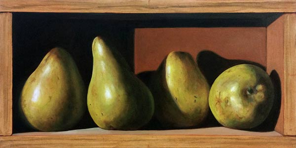 Update 2 – Pears in a Box – Oil Still Life Class with Cliff Turner