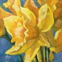 Daffodil day 3 of 30 oil by Krista Hasson