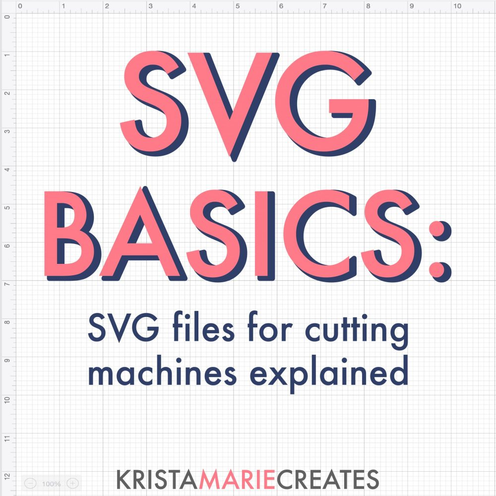 SVG basics svg files for cutting machines explained text