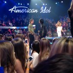 Demi and Keith talking during a commercial break