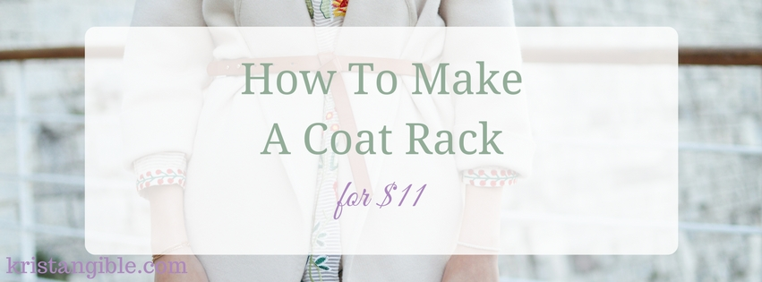 how to make a coat rack for $11