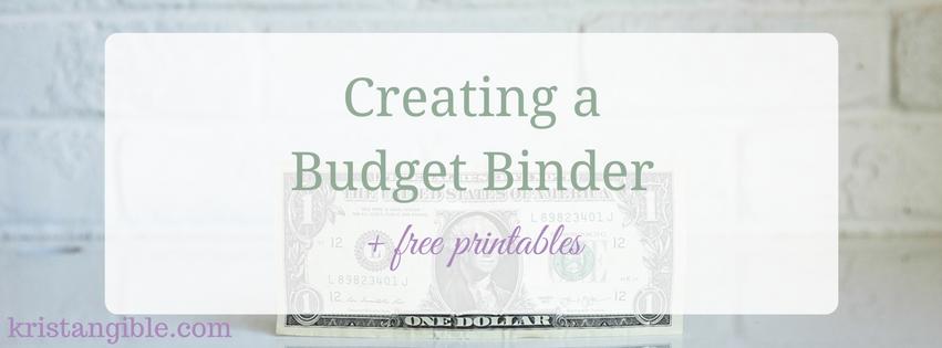 creating a budget binder