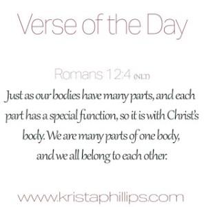 VOTD – Romans 12:4