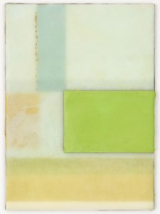 Continuum 5 - 4x5 - Wax, Paper, Pastel and Clay on Panel - 2011