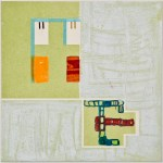 Map 20 - Letterpress and Mixed Media - 6x6 - 2013