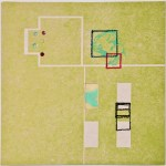 Map 33 - Letterpress and Mixed Media - 6x6 - 2013