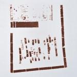 Krista Svalbonas - Nurnberg 1, copper photo-serigraph on mylar, 9x9, 2013