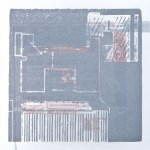 Krista Svalbonas - Furth 2, Aluminum and copper photo-serigraph on mylar, 9x9, 2013