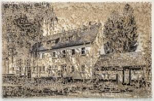 Kassel, laser cut pigment print, 8x10,2020