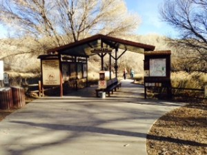 Kiosk at the trail heads