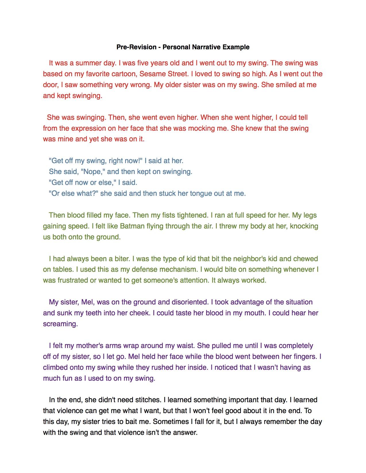 Literary Narrative Essay A Narritive Essay Literacy Narrative Essay