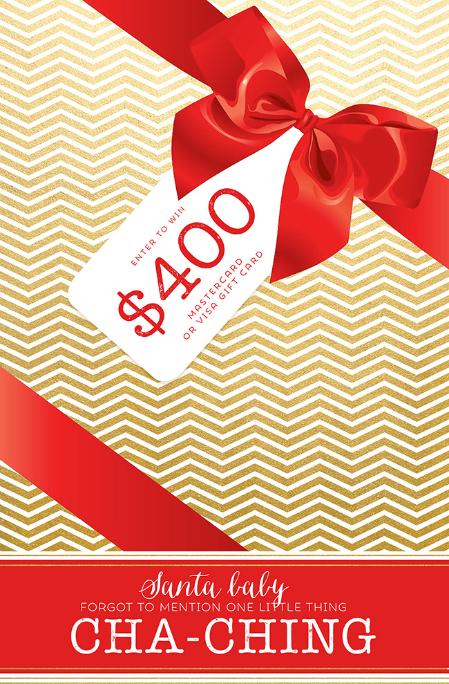 Cash for Christmas Mastercard Visa Giveaway
