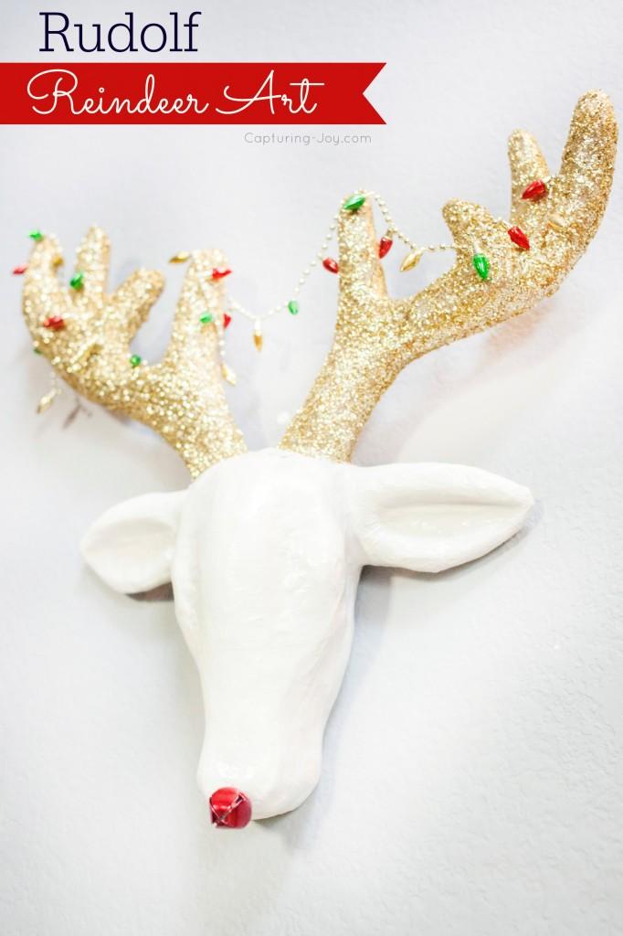 Rudolf Reindeer Art