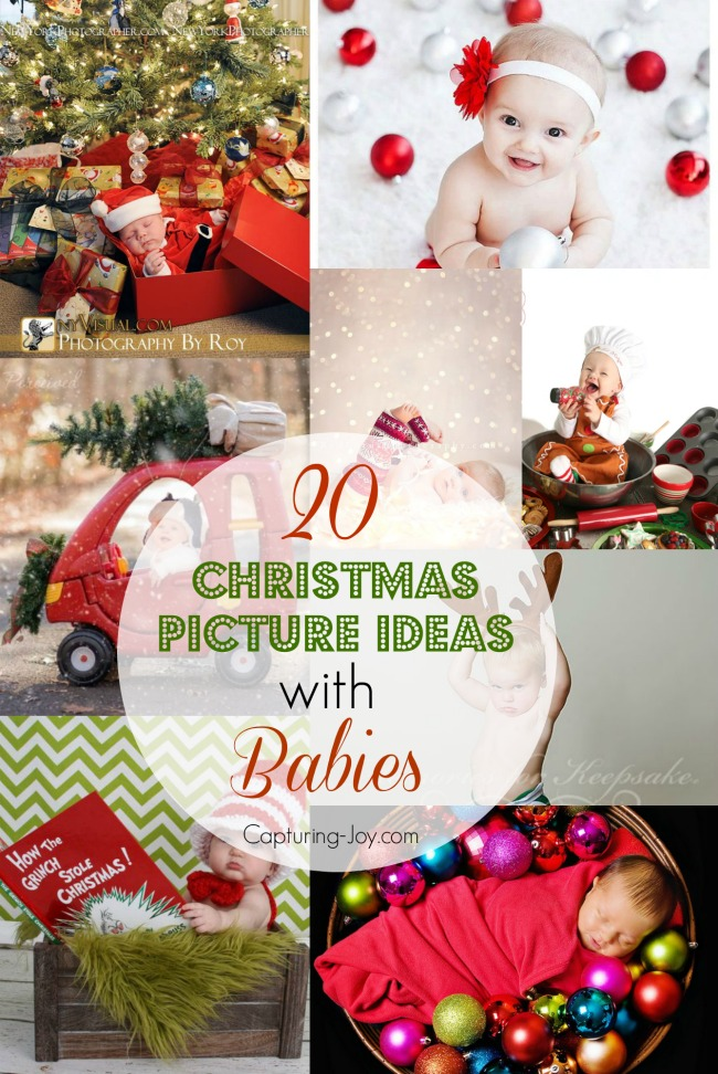 20 Ideas For Christmas Pictures With Babies Babys First