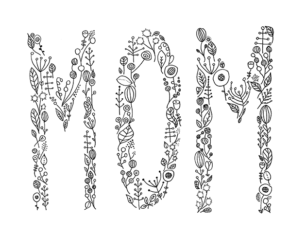 Hand Lettering Tutorial and Mother's Day Printables