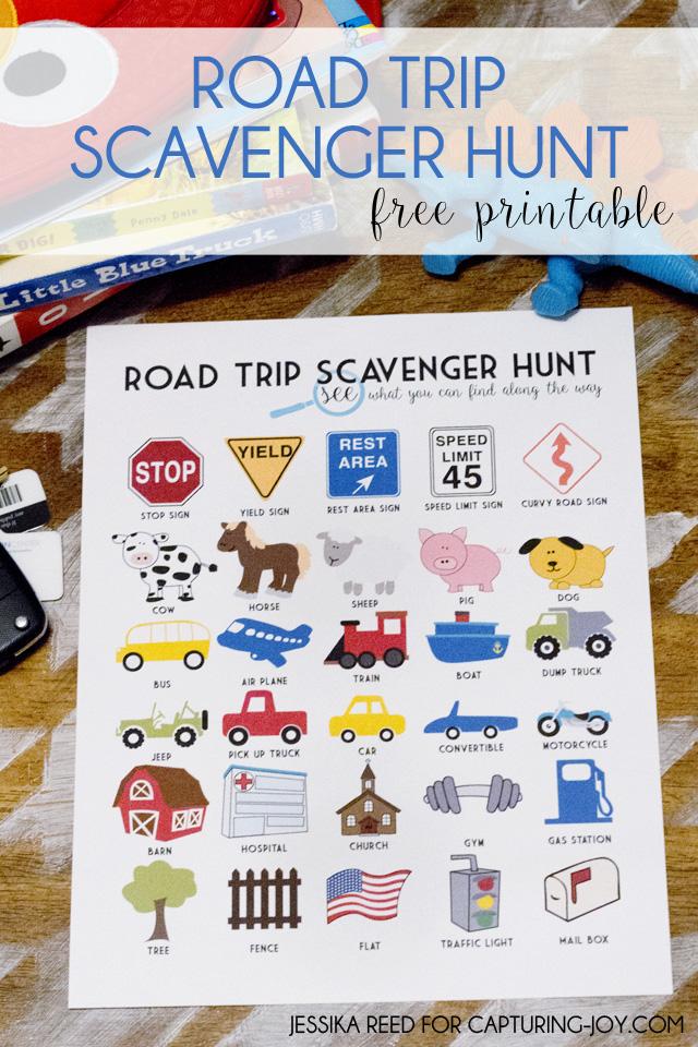 Road Trip Scavenger Hunt Free Printable (for all ages!) | Capturing Joy with Kristen Duke