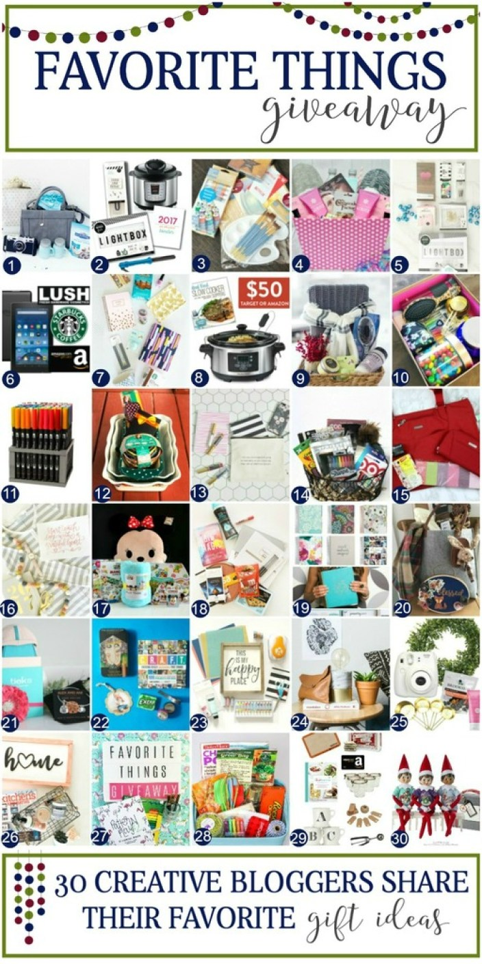 Favorite Things Gift Giving Guide and Giveaway