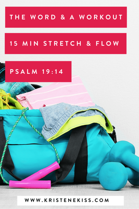 Free faith and fitness video. Gentle stretch and flow 15 minute workout.