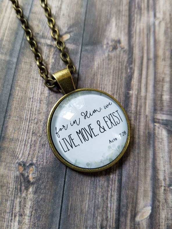 Faithful Merchant Live, Move, Exist Pendant