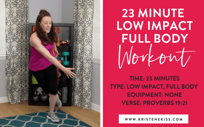 Standing in His Purpose, 23 Minute Low Impact Workout