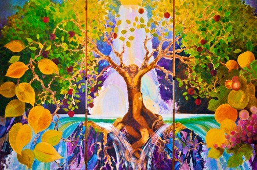 ©1999 Kristen Gilje Tree of Life, 8 feet by 12 feet, acrylic on panel