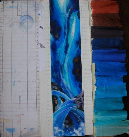 Kristen Gilje Zion's Waterfall2 wc sketch
