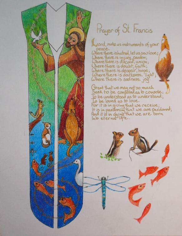 St  Francis Stole | Kristen Gilje Studio