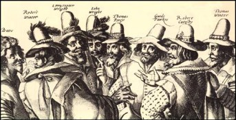 Guy Fawkes Day: Conspirators in the Gunpowder Plot: November 5, 1605